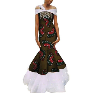 Robe Wax - Traine de Dentelle - Robe-africaine.com - 8 / M