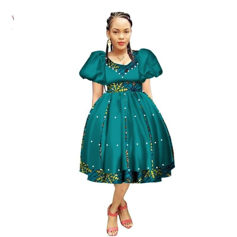 Robe Wax avec Jupe Ample - Robe-africaine.com - 1 / M