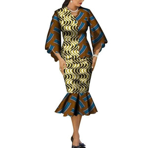 Robe Wax Grande Taille - Robe-africaine.com - 1 / M