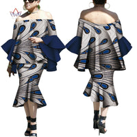 Robe Wax Deux tons - Robe-africaine.com - 1 / M