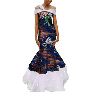 Robe Wax - Traine de Dentelle - Robe-africaine.com - 6 / M