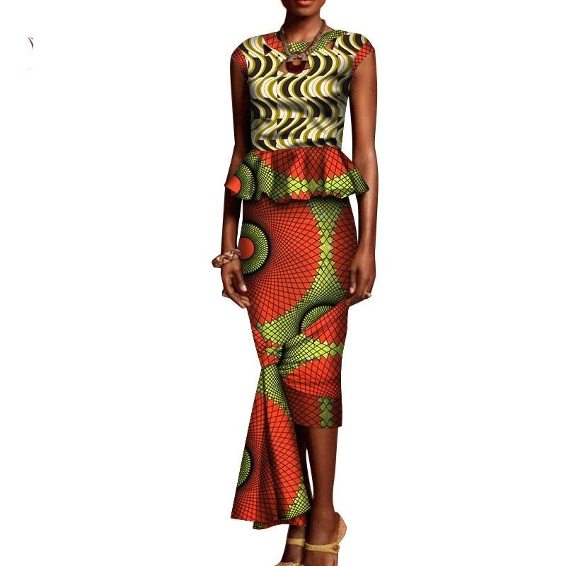 Robe Wax avec Bretelle - Robe-africaine.com - [variant_title]