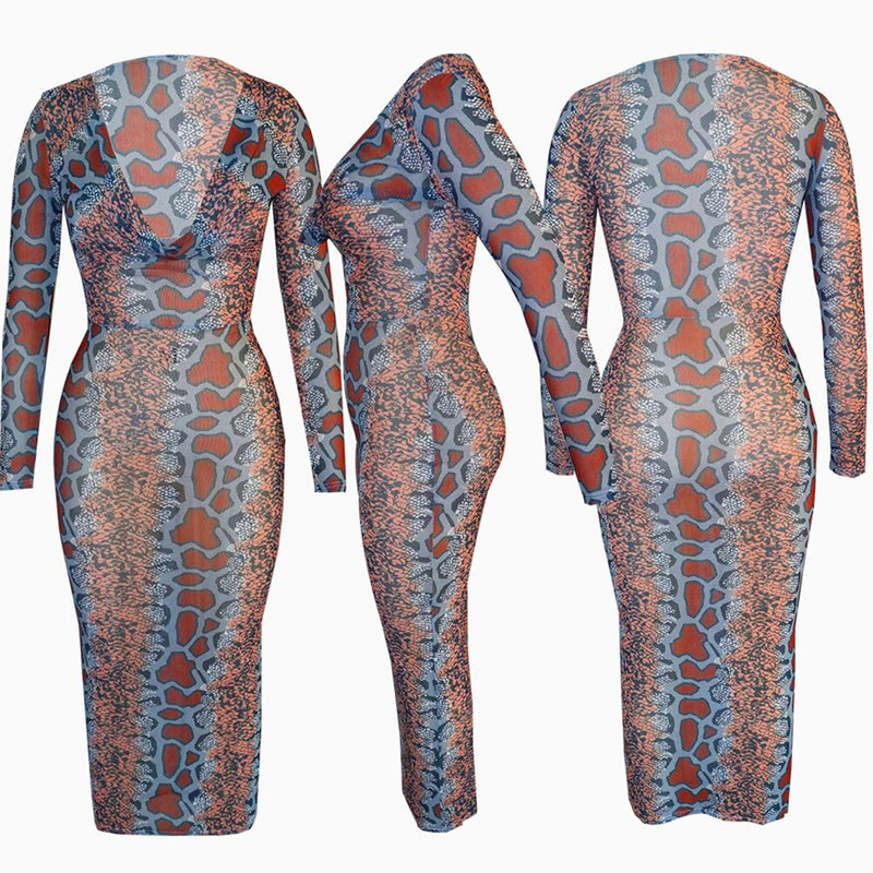 Robe Africaine Moulante imprimé serpent - Robe-africaine.com - [variant_title]