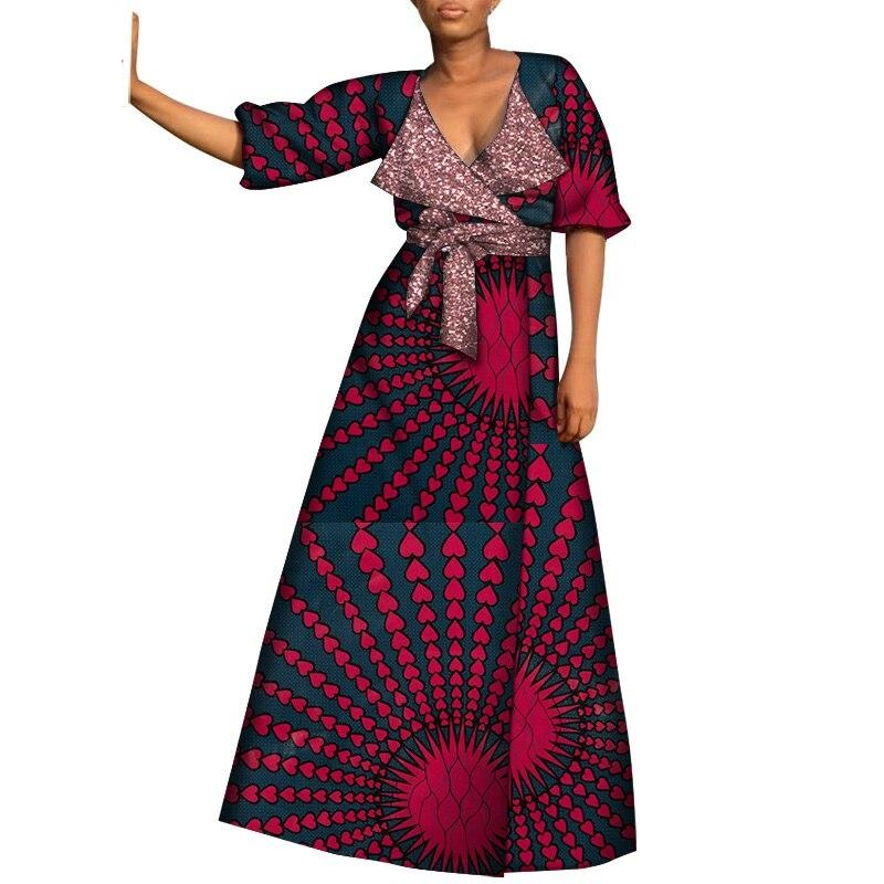 Robe Wax Bogolan Satiné - Robe-africaine.com - [variant_title]