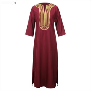 Boubou Africain Court - Robe-africaine.com - Red / S