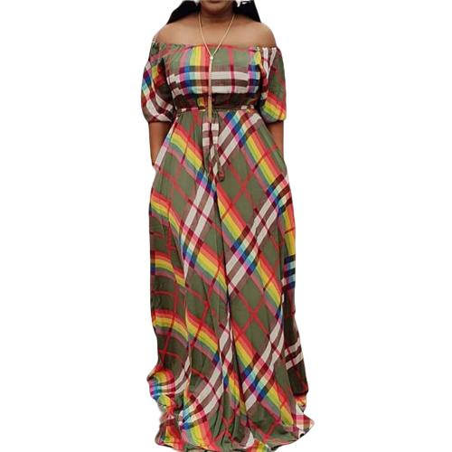 Robe Africaine Kaleidoscopique - Robe-africaine.com - [variant_title]