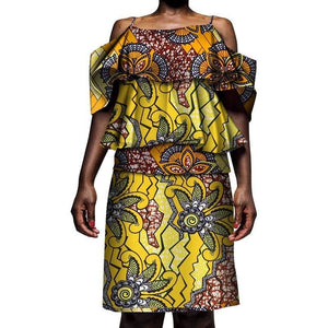 Robe Wax Fleur Tropicales - Robe-africaine.com - [variant_title]