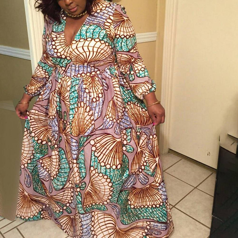 Robe Africaine Moderne Longue - Robe-africaine.com - M02 / S