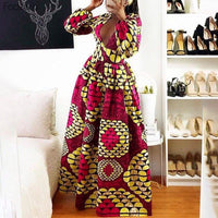 Robe Africaine Moderne Longue - Robe-africaine.com - M01 / S