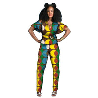 Tenue Africaine Wax Fleurie - Robe-africaine.com - [variant_title]