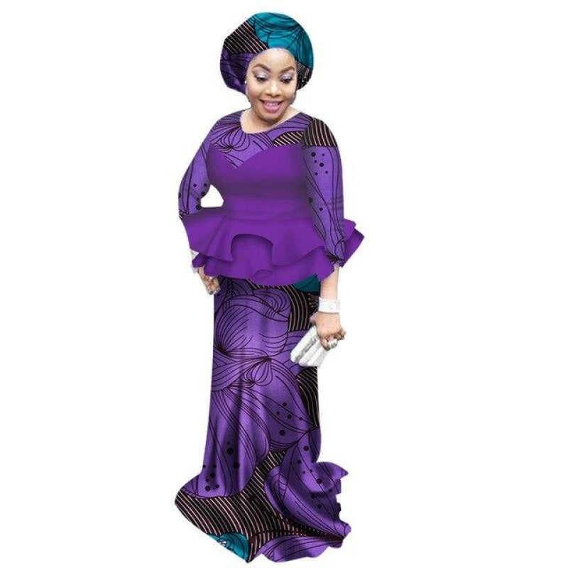 Pagne Africain Violettes - Robe-africaine.com - 16 / XL