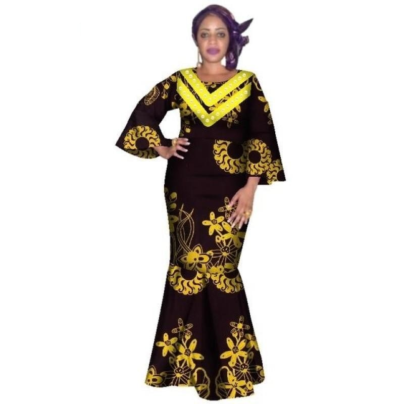 Pagne Traditionnel Feuille d'Or - Robe-africaine.com - 15 / XL