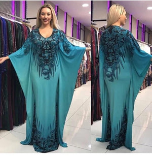 Boubou Jebba Cyan - Robe-africaine.com - [variant_title]