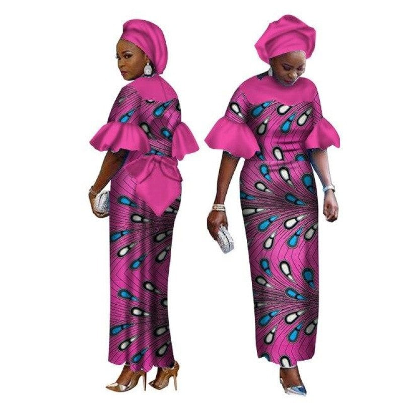 Pagne Bazin Rose - Robe-africaine.com - [variant_title]