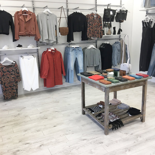 Ebony and Chrome Boutique Autumn Display Jindabyne Store Pic