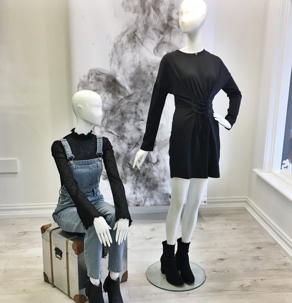 Ebony and Chrome Boutique Mannequin Display Jindabyne Store