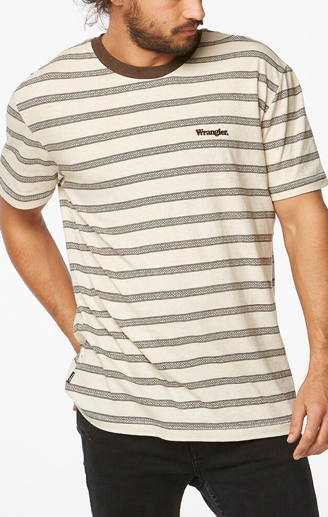 Tide Times Tee Natural Stripe