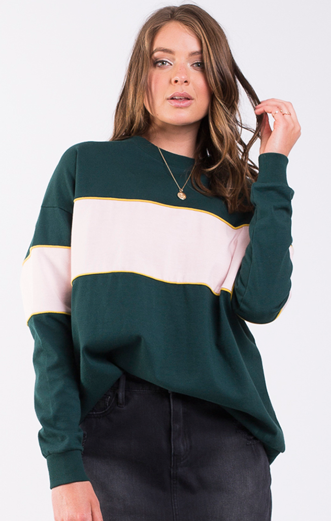 Beau Oversized Jumper Forest/Petal