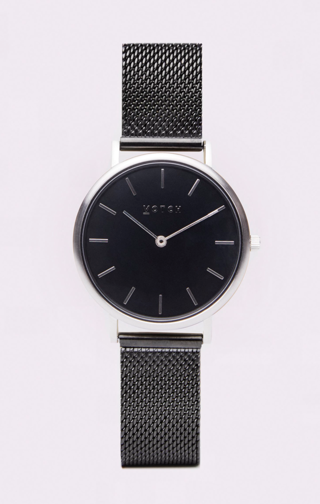 Classic Mesh Petite Watch Silver/Black