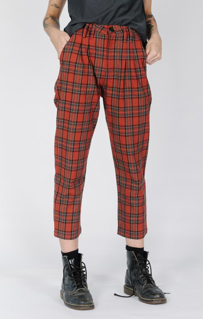 West Pant Red Plaid