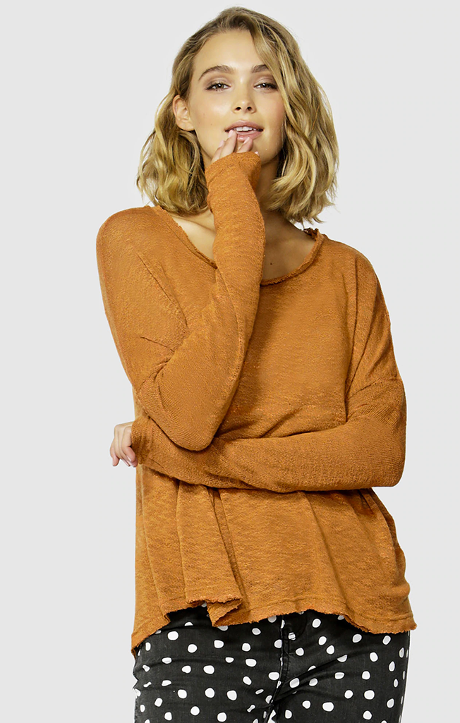 Clio Knit Jumper Clay