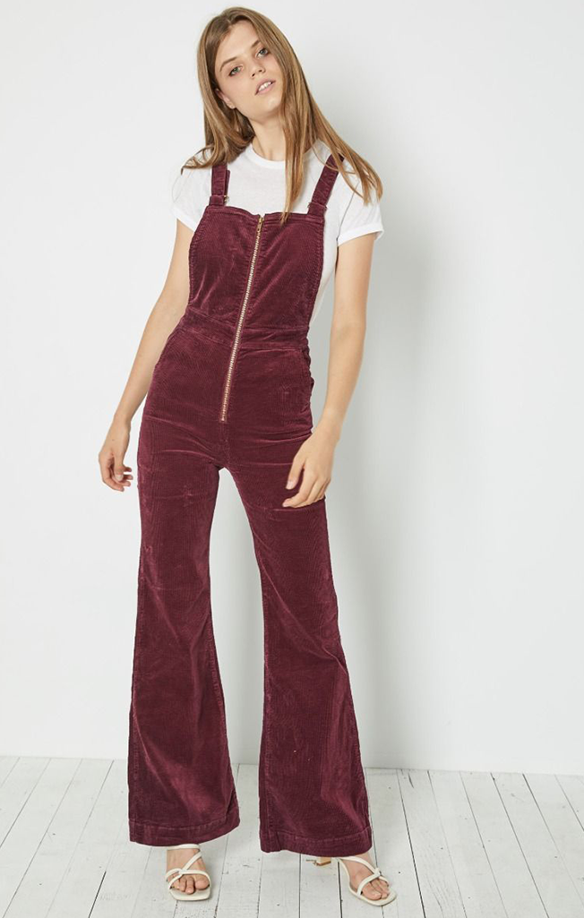 Eastcoast Flare Overall Bordeaux Cord