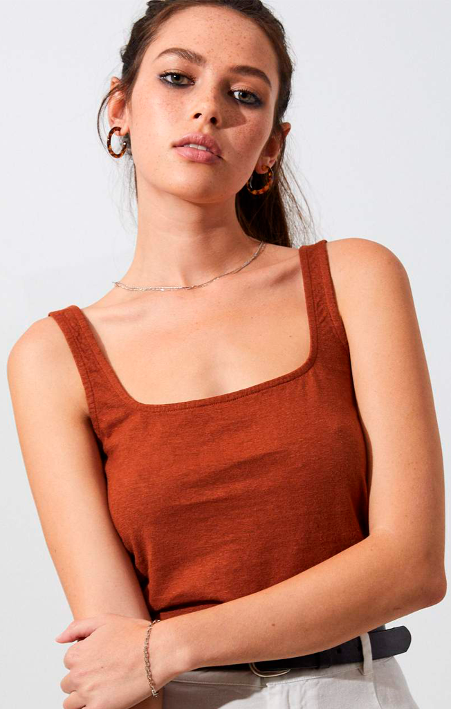 Ashley Hemp Singlet Ginger