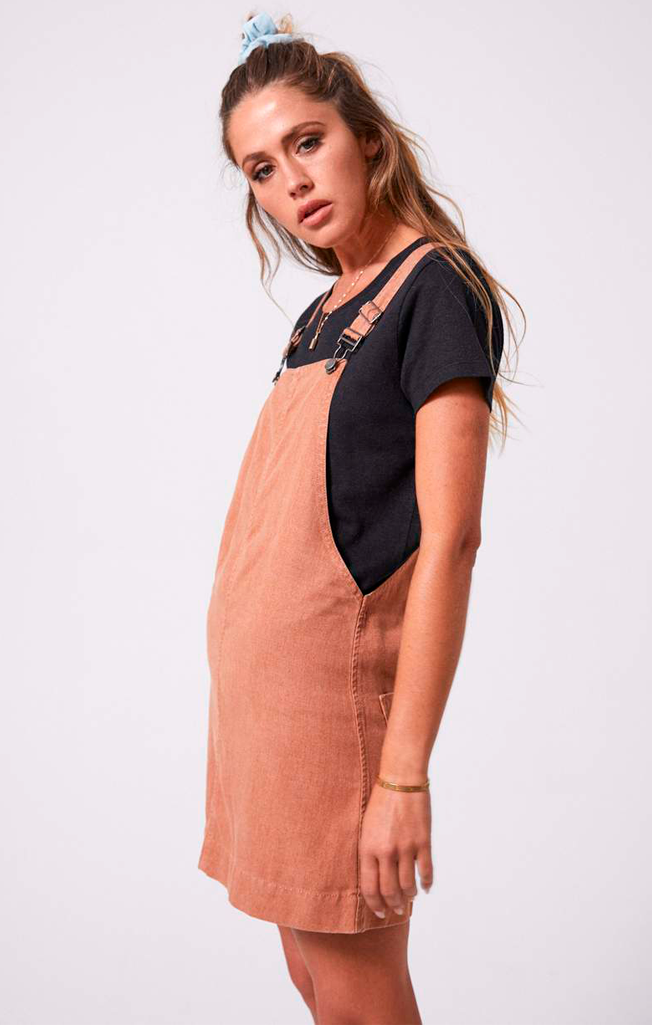 Mae Hemp Overall Dress Clay