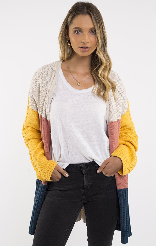 Link Panelled Knit Cardi