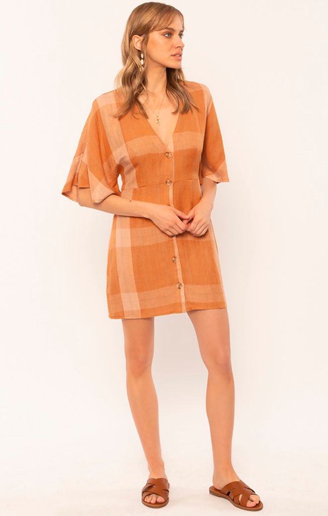 Lovely Day Mini Dress Tamarind