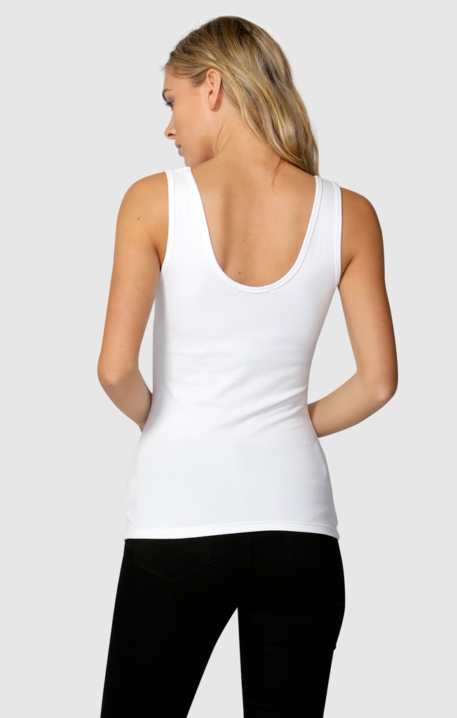 Emma Scoop Tank White