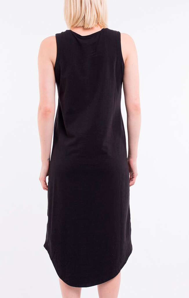 One in Eight Midi Dress Black