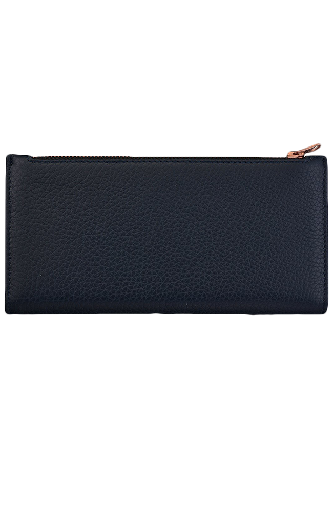 In the Beginning Wallet Navy Blue