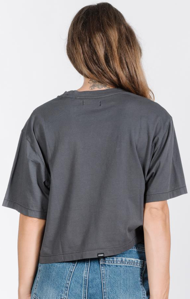 Thrifty Crop Tee - Merch Black