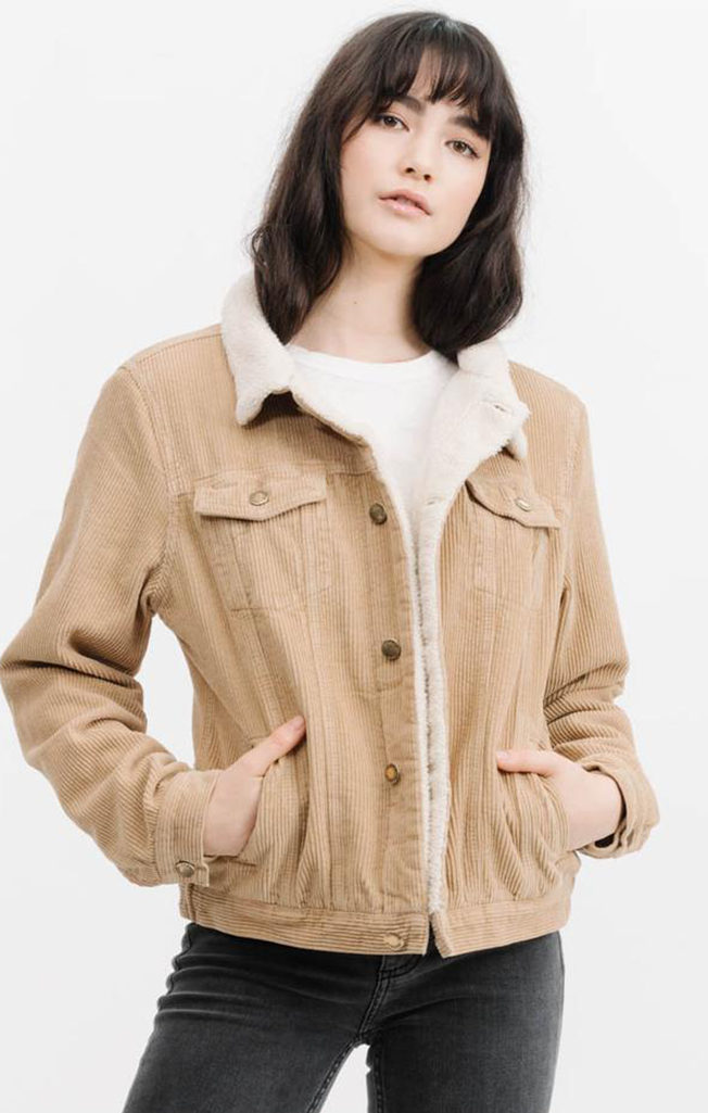 Bianca Cord Jacket Tan