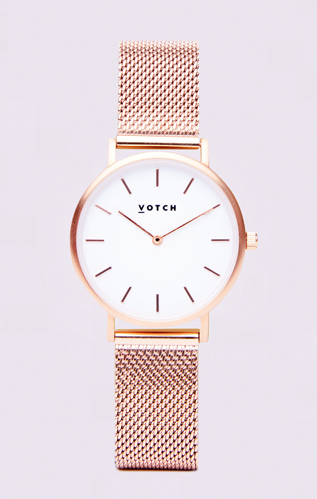 Classic Mesh Petite Watch Rose/White