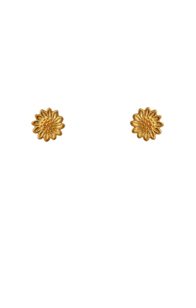 Sunflower Studs Gold