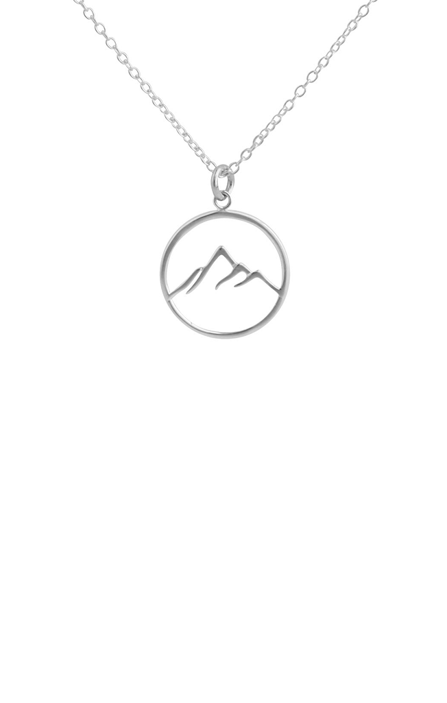 Sierra Peaks Mountain Necklace