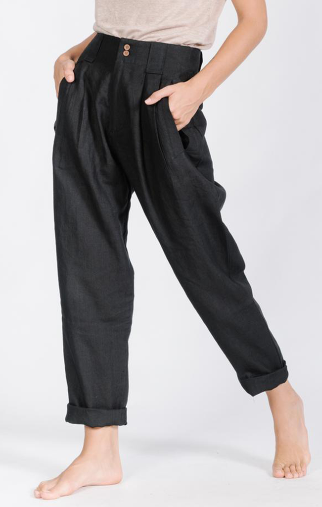 Exhibition Pant Washed Black