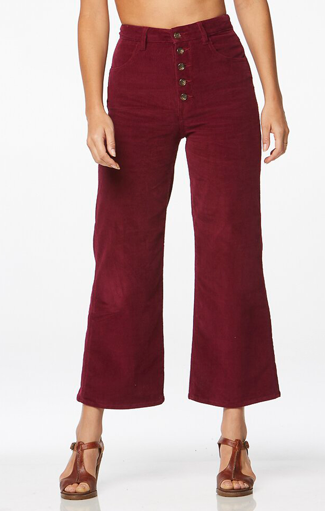 Hi Bells Cropped Red Plum