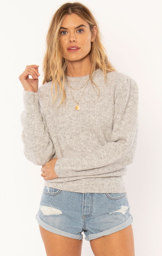 Florence Knit Grey Heather