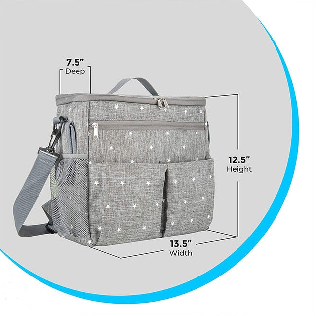 Baby Diaper Bags For Mom Backpack Fashion Star Maternity Bag Stroller Bag