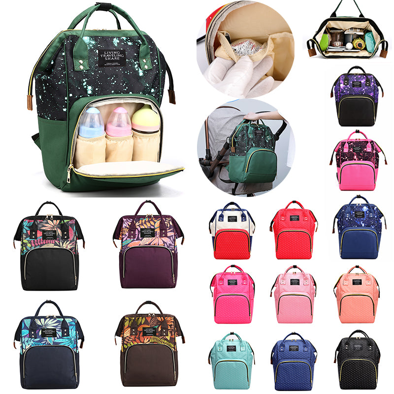 41color Mummy Backpack Zipper Large Capacity Travel Maternity Bag Diaper Baby Bag Multifunctional Nursing Bag
