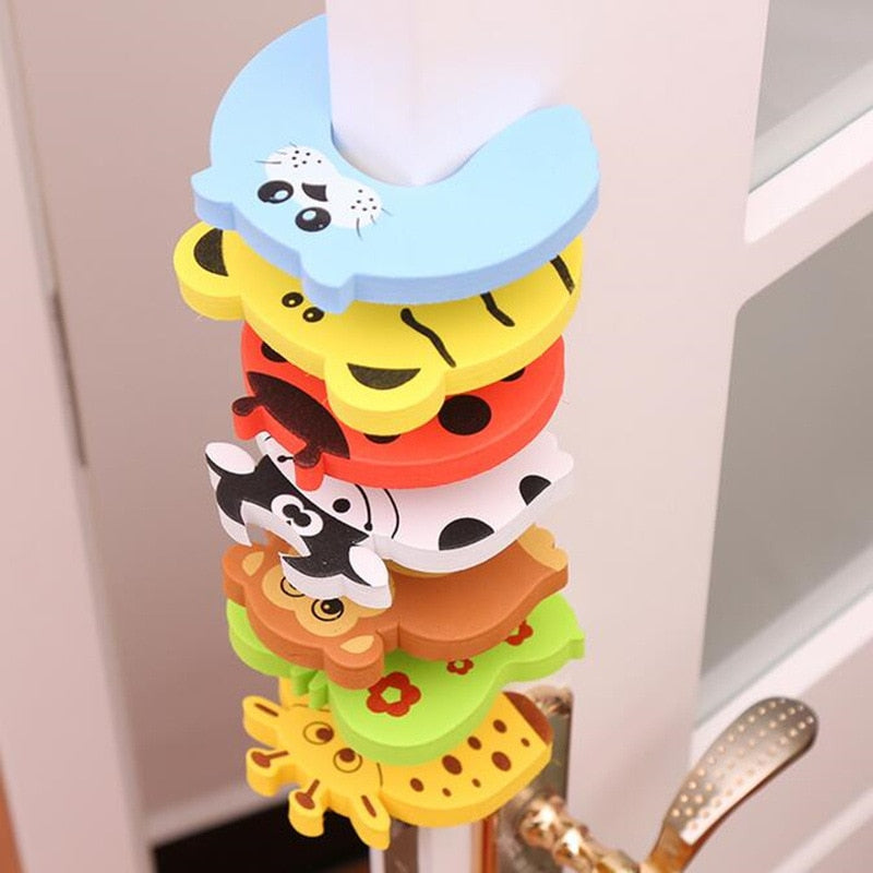 5pcs Baby Child Proofing Door Stoppers Finger Safety Guard Random Holder Lock Safety Guard Finger Protect Kid Toys For Baby Born