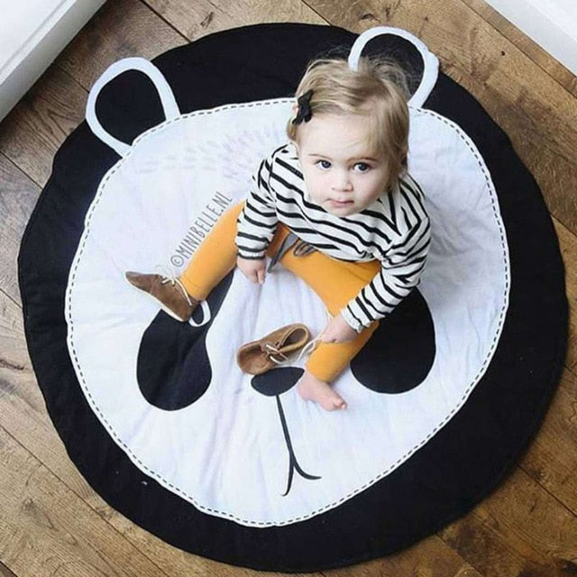 Cartoon Animals Baby Play Mats Pad Toddler Kids Crawling Blanket Round Carpet Rug Toys Mat For Children Room