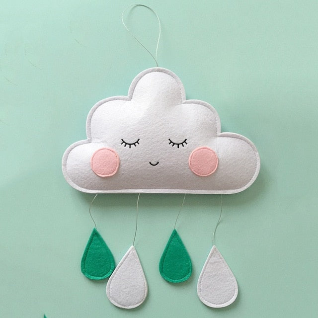 Baby Room Decor Toys Newborn Clouds Hanging Ornaments Crib Bumper Bed Bell Baby Bedroom Decoration