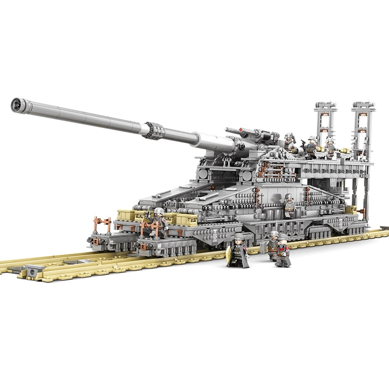 "Building Blocks German 80cm K[E] Railway Gun ""Dora"" Military Series Toys For Children"