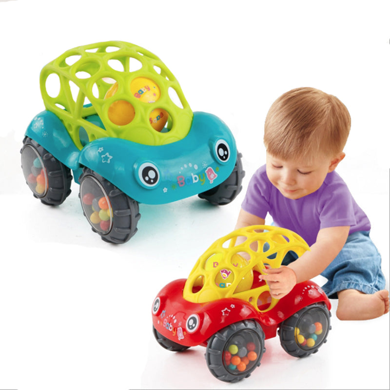 Mini Baby Car Doll Toy Crib Grip Hand Catch Ball for Newborn Toy Car