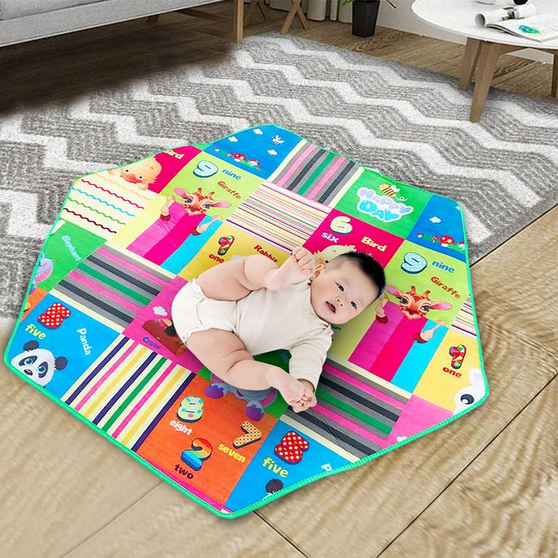 Baby Hexagonal Crawling Mat Carpet Round Pads Kids Tent Decoration Accessory Game Mat For Climbing 12-24 Month
