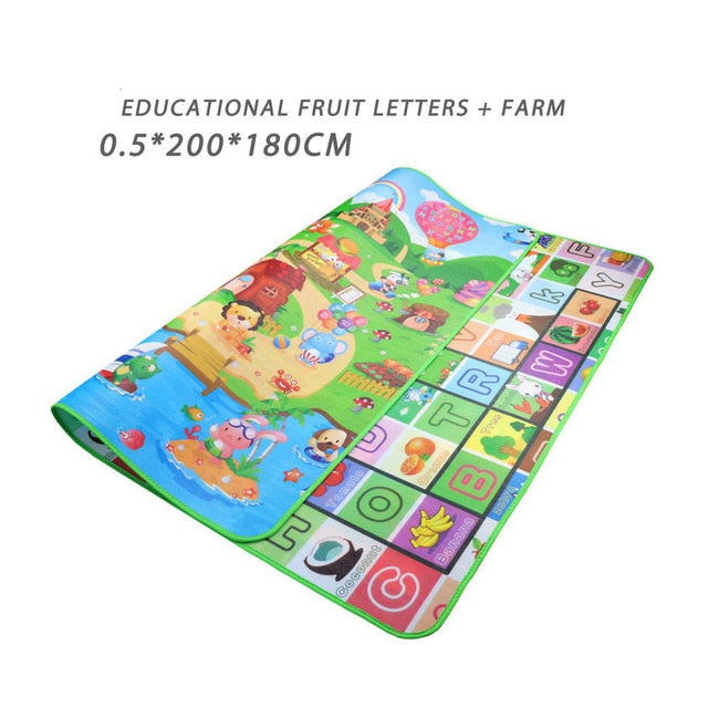 Baby Play Mat 0.5cm Thick Foldable Crawling Mat Double Surface